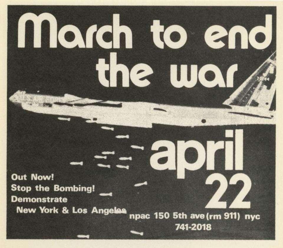 March To End The War -- April 22