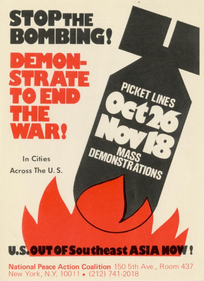 Stop the Bombing! Demonstrate To End The War! In Cities Across The U.S.