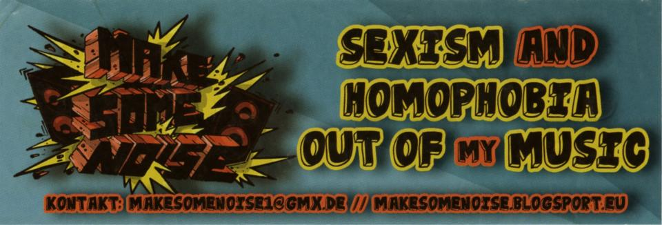 Sexism And Homophobia Out Of My Music