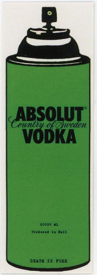 Death NYC -- Absolut Vodka -- Country Of Sweden -- 20000mL -- Produced In Hell -- Death Is Free