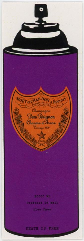 Death NYC -- Champagne Dom Perignon Charme D'Irene Vintage 1979 -- Produced In Hell -- Blue Dawn -- Death Is Free