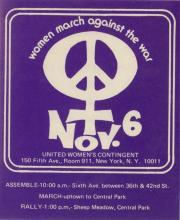 Women March Against The War